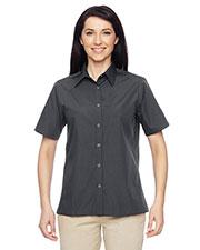 Harriton M545W Women Advantage Snap Closure Short-Sleeve Shirt at GotApparel