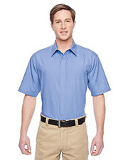 Harriton M545 Men Advantage Snap Closure Short-Sleeve Shirt at GotApparel