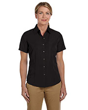 Harriton M560W Women Barbados Textured Camp Shirt at GotApparel
