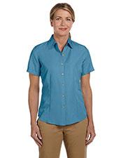 Harriton M560W Women Barbados Textured Camp Shirt at GotApparel
