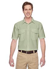 Harriton M580 Men Key West Short-Sleeve Performance Staff Shirt at GotApparel