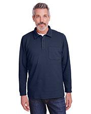 Harriton M709 Men StainBloc Pique Fleece Pullover Jacket at GotApparel