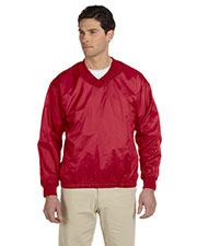 Harriton M720 Men Athletic V-Neck Pullover Jacket at GotApparel