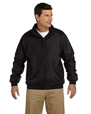 Harriton M740 Men Fleecelined Nylon Jacket at GotApparel