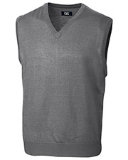 Cutter & Buck MCS01432 Men Douglas V-Neck Vest at GotApparel