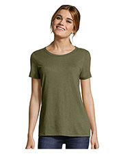 Hanes MO150 Women Modal Triblend Scoop T-Shirt at GotApparel