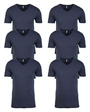 Next Level N3200 Men Premium Fitted Short-Sleeve V-Neck Tee 6-Pack at GotApparel