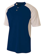 A4 N3315 Men Contrast Henley at GotApparel