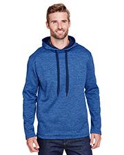 A4 N4103 Men 6 oz. Tourney Color Block Tech Fleece Hooded Sweatshirt at GotApparel