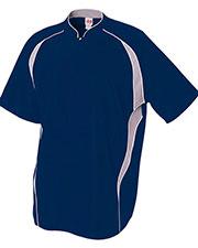 A4 N4241 Men 1/4-Zip Batting Jacket at GotApparel