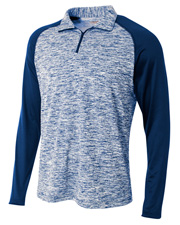 A4 N4249 Men 1/4 Zip Space Dye With Contrast at GotApparel