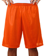 """A4 N5296 Men Lined 9"""" Inseam Tricot Mesh Shorts at GotApparel"""