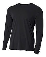A4 NB3165 Boys Long-Sleeve Cooling Performance Crew Shirt at GotApparel