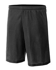 "A4 NB5184 Boys 6"" Lined Micromesh Shorts at GotApparel"