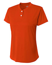 A4 NG3143 Girls TwoButton Henley at GotApparel