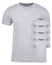Next Level 3600 Men Premium Fitted Short-Sleeve Crew 5-Pack at GotApparel