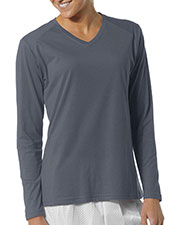 A4 Drop Ship NW3233 Women Long-Sleeve Fusion Performance V-Neck at GotApparel