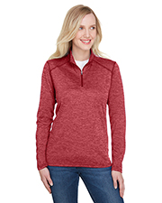 A4 NW4010 Ladies 4.3 oz. Tonal Space-Dye Quarter-Zip at GotApparel
