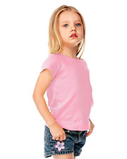 Little Girls 3-6X Baby Doll Short Sleeve Top at GotApparel