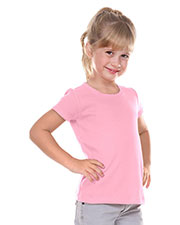 Little Girls 3-6X Scalloped Scoop Neck Top at GotApparel