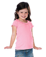 Little Girls 3-6X Sunflower Short Sleeve Top at GotApparel