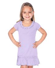 Little Girls 3-6X Sunflower Short Sleeve Dress at GotApparel