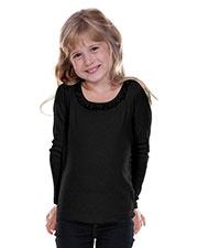 Little Girls 3-6X Sunflower Long Sleeve Top at GotApparel