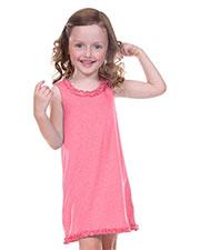 Little Girls 3-6X Lettuce Edge Ruffles Sleeveless Dress at GotApparel