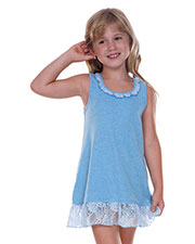 Little Girls 3-6X Lace Trim A-Line Tank Dress at GotApparel