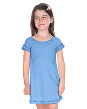 Girls 3-6X Lettuce Edge Raglan Cap Sleeve Dress at GotApparel