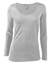 Platinum P507C Women Delta  Ladies Cvc Long Sleeve Scoop Neck Tee at GotApparel