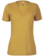 Platinum P514S Women Delta  Ladies Slub Short Sleeve V-Neck Tee at GotApparel