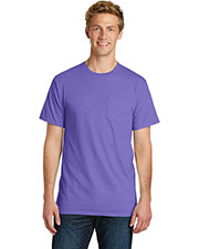 Port & Company PC099P Adult Essential Pigment-Dyed Pocket Tee at GotApparel