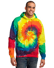 Port & Company PC146 Men Essential Tie-Dye Pullover Hooded Sweatshirt at GotApparel