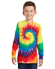 Port & Company PC147YLS Boys   Youth Tie-Dye Long-Sleeve Tee at GotApparel