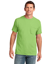 Port & Company PC54P Men 5.4 Oz 100% Cotton Pocket T-Shirt at GotApparel