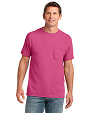 Port & Company PC54P Men 5.4 Oz 100% Cotton Pocket T-Shirt at GotApparel