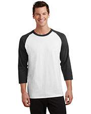 Port & Company PC55RS Adult 50/50 Cotton/Poly 3/4-Sleeve Raglan T-Shirt at GotApparel
