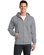 Port & Company PC78ZH Men Classic Full-Zip Hooded Sweatshirt at GotApparel