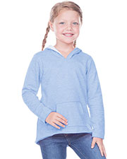 Girls 3-6X French Terry Raw Edge High-Low Long Sleeve Lined Hoodie at GotApparel