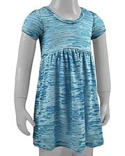 Little Girls 3-6X Striped Burnout Baby Doll Short Sleeve Dress at GotApparel
