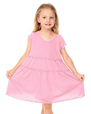 Little Girls 3-6X Tiered Lettuce Edge Dress at GotApparel
