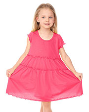 Little Girls 3-6X Tiered Lettuce Edge Dress at GotApparel