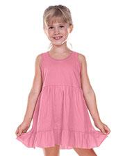 Little Girls 3-6X Double Raw Edge Tiered Tank Dress at GotApparel