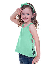 Little Girls 3-6X Jersey High Low Lace Back Tank at GotApparel