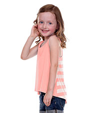 Little Girls 3-6X Striped Jersey Contrast Back High Low Tank at GotApparel