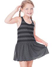 Little Girls 3-6X Striped Jersey Scoop Neck Racer Back Tank Dress at GotApparel