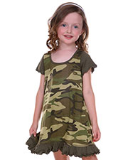 Little Girls 3-6X Camouflage A-Line Short Sleeve Dress at GotApparel