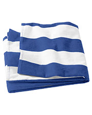 Port Authority PT43 Unisex Cabana Stripe Beach Towel at GotApparel
