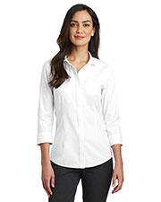 Red House RH690 Ladies 4 oz 3/4-Sleeve Nailhead Non-Iron Shirt at GotApparel